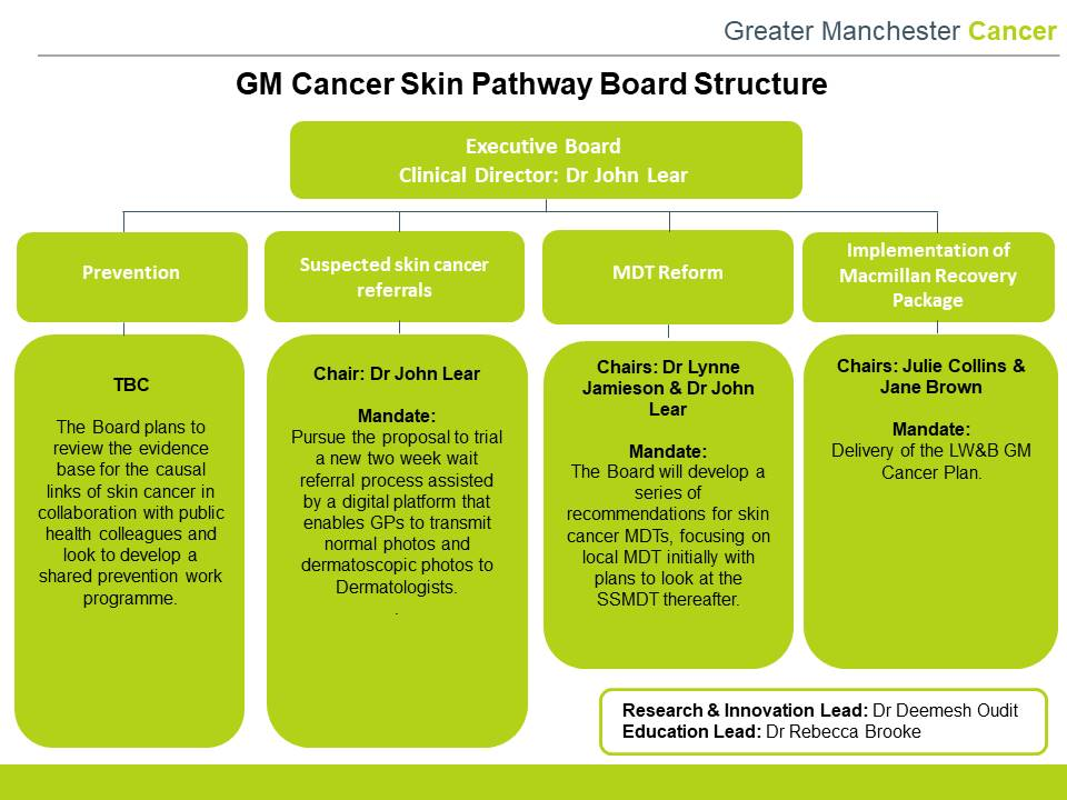 Skin Pathway Board Greater Manchester Cancer
